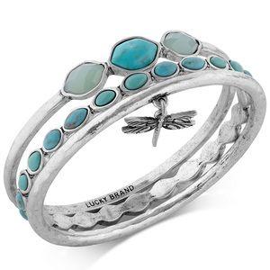 3 Lucky Brand bangle bracelets